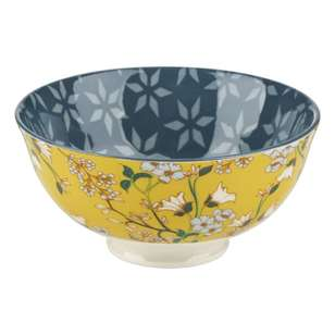 Cooper & Co Yellow Flower Small Ceramic Bowl