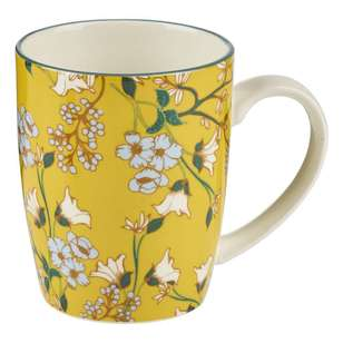 Cooper & Co Yellow Flower Ceramic Mug