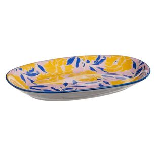 Cooper & Co Sarong Print Ceramic Snack Plate