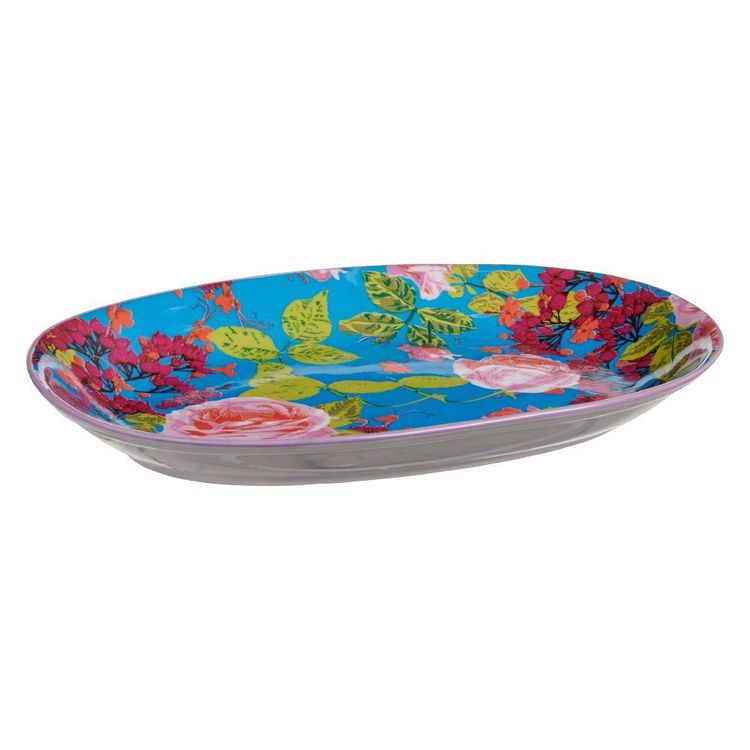 Cooper & Co Oriental Bliss Ceramic Snack Plate Oriental Bliss 15 x 23 cm