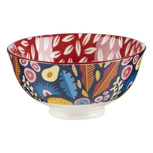 Cooper & Co Abstract Floral Small Ceramic Bowl