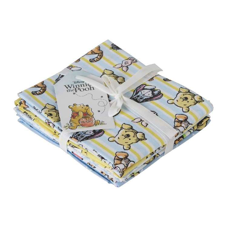 Winnie The Pooh Fat Quarter Bundle 5 Pieces