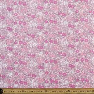 Pink Petal Printed Country Garden TC Fabric