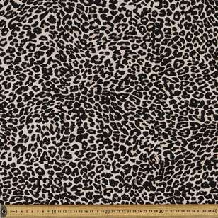 Large Leopard Printed Rayon Fabric