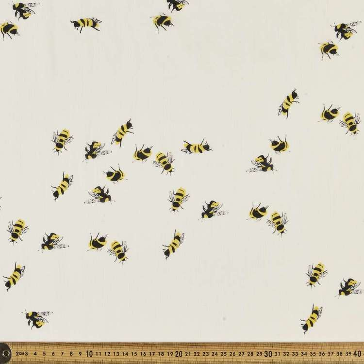 Honey Bee Printed 138 cm Muslin Fabric
