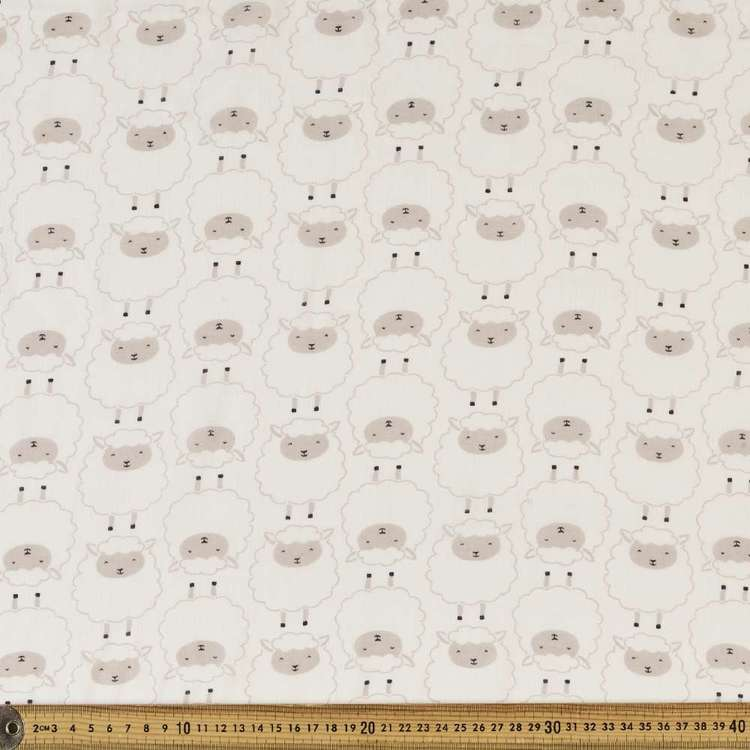 Counting Sheep Printed 138 cm Muslin Fabric