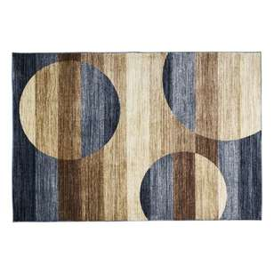 Heat Set Modern Culture Stripes & Circles Polypropylene Rug