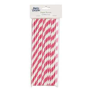 Party Creator Stripe Paper Straws 24 Pack