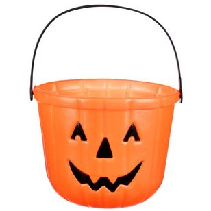 Spooky Hollow Pumpkin Face Bucket