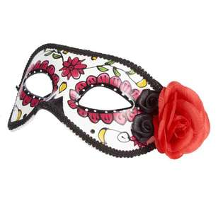 Spooky Hollow Sugar Skull Eye Mask