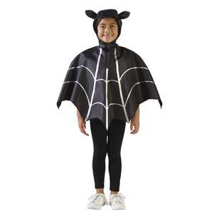 Spooky Hollow Bat Poncho Kids Costume