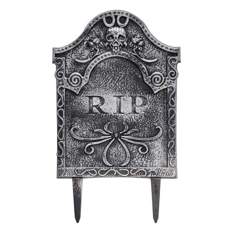 Spooky Hollow Roses Tombstone with Stake