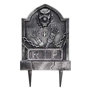 Spooky Hollow Ghoul Tombstone with Stake