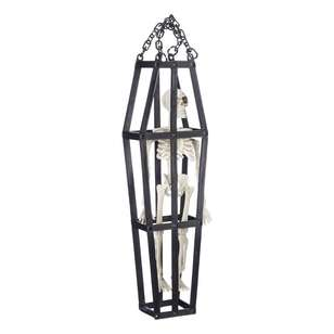 Spooky Hollow Skeleton In Hanging Cage
