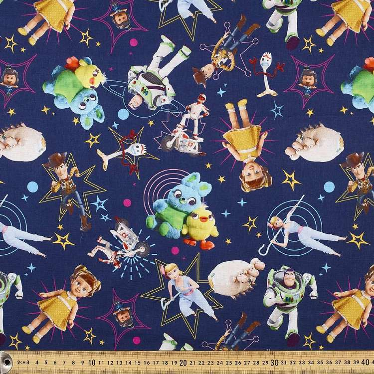 Disney Toy Story Toys & Stars Allover Cotton Fabric