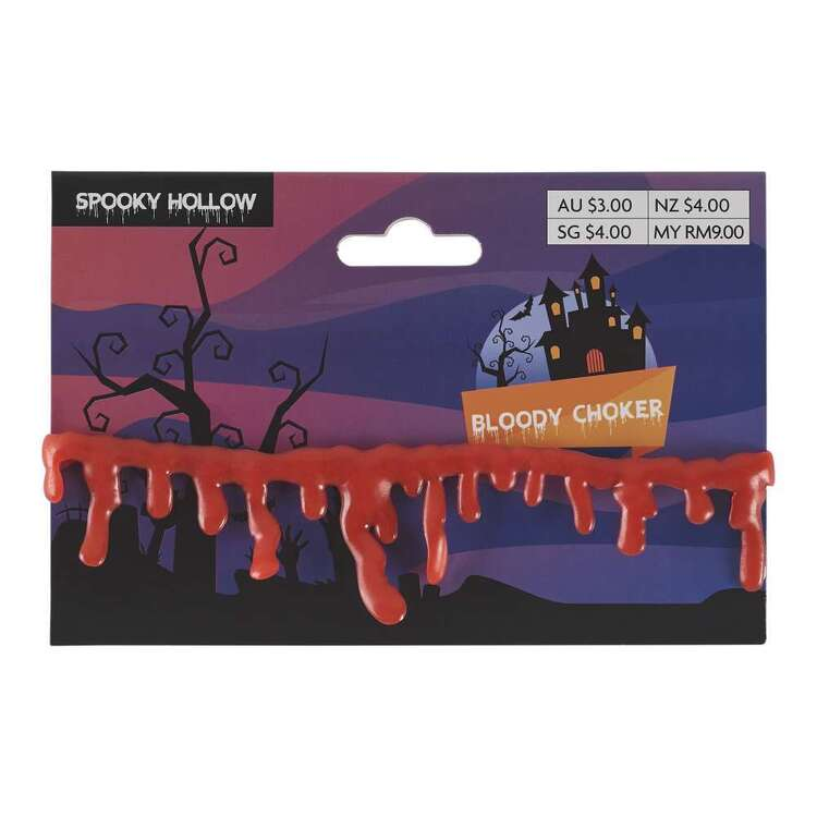 Spooky Hollow Bloody Choker Necklace