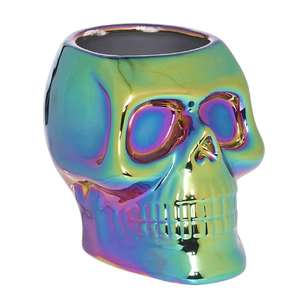 Spooky Hollow Skull Pot with Oil Slick