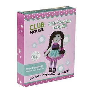 Club House DIY Plush Pretty Girl Kids Kit
