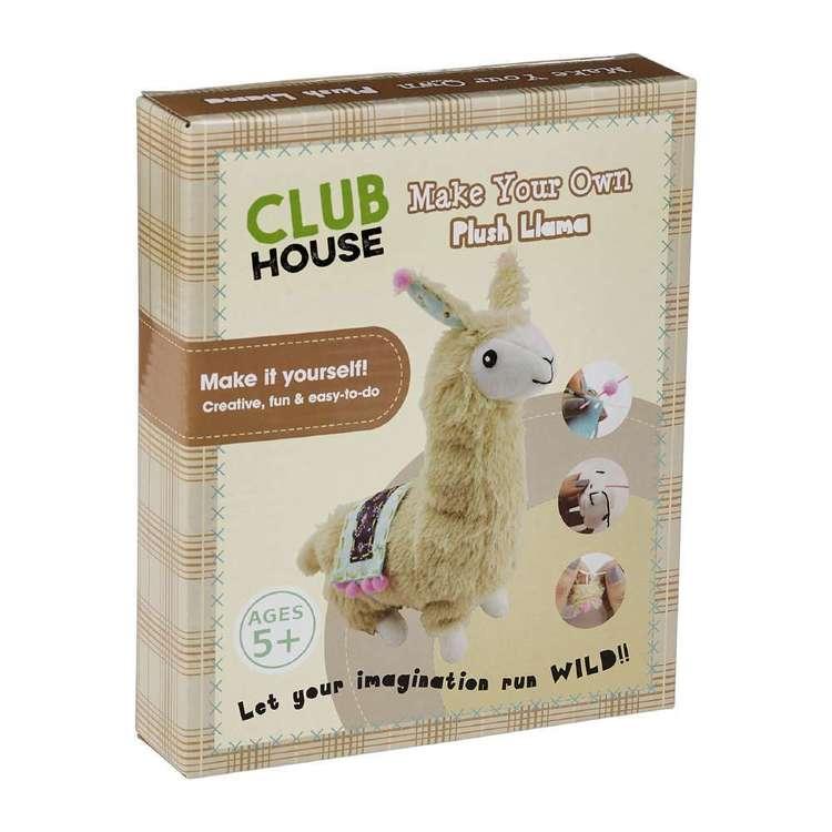 Club House Diy Plush Llama Kids Kit