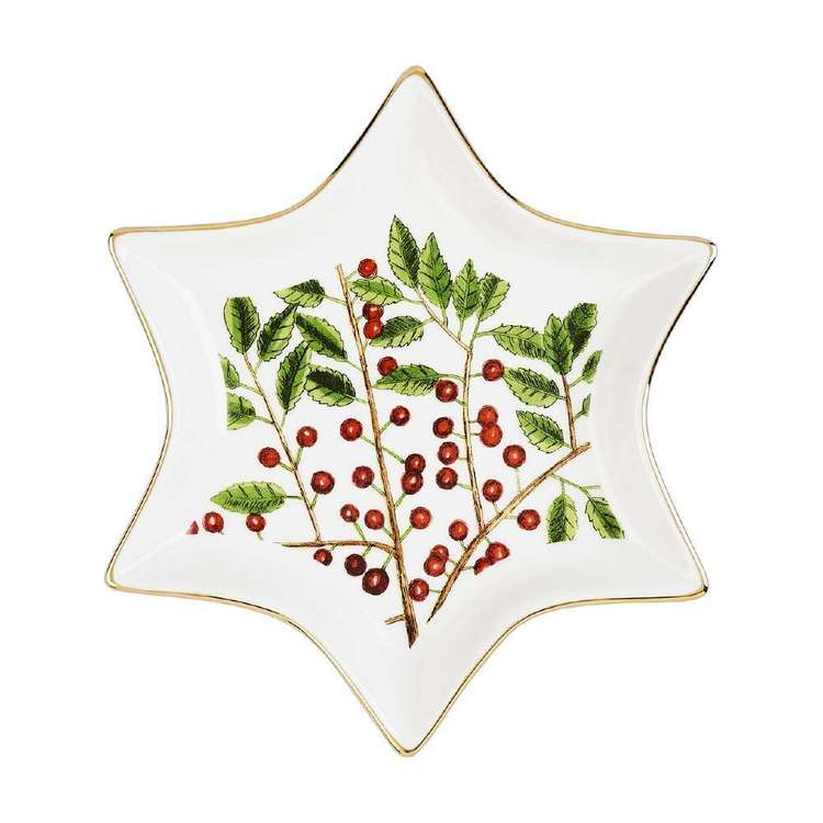 Culinary Co Holly Star Plate