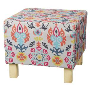 Living Space Global Artist Marlo Printed Footstool