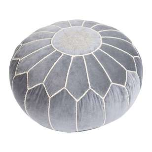 Living Space Global Artist Moroccan Velvet Ottoman