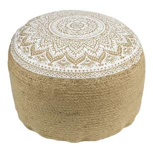 Living Space Summer Life Printed Ottoman