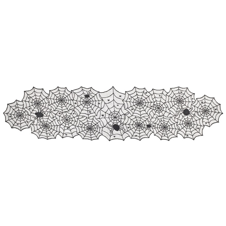 Spooky Hollow Spider Web Table Runner