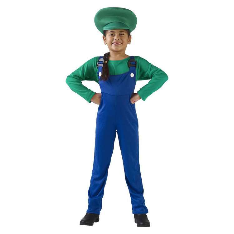 Party Creator Italian Plumber Girl Kid's Costume