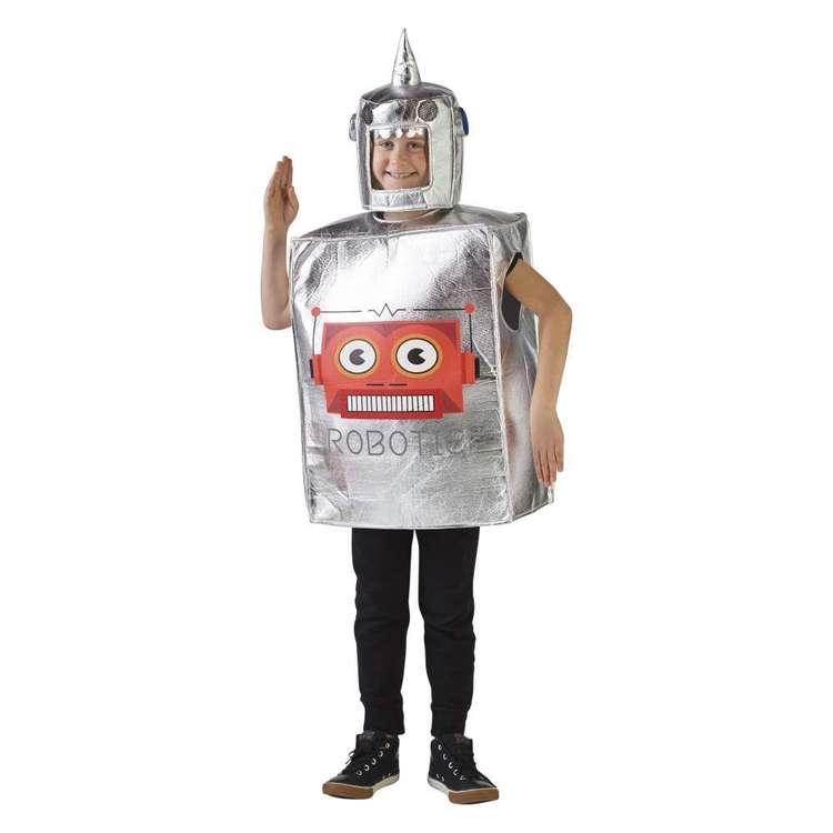 Spartys Robot Kids Costume Silver