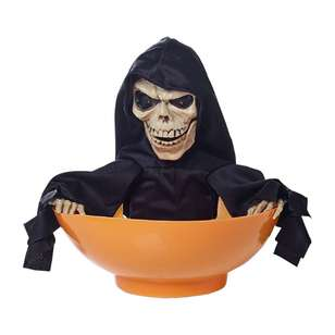 Spooky Hollow Animated Skeleton Sweet Bowl