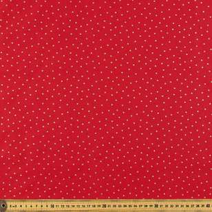 Metallic Christmas Spot Cotton Fabric