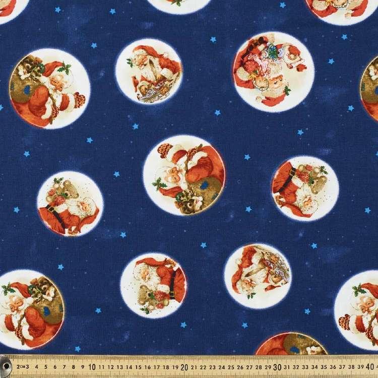Santa In The Stars Cotton Fabric