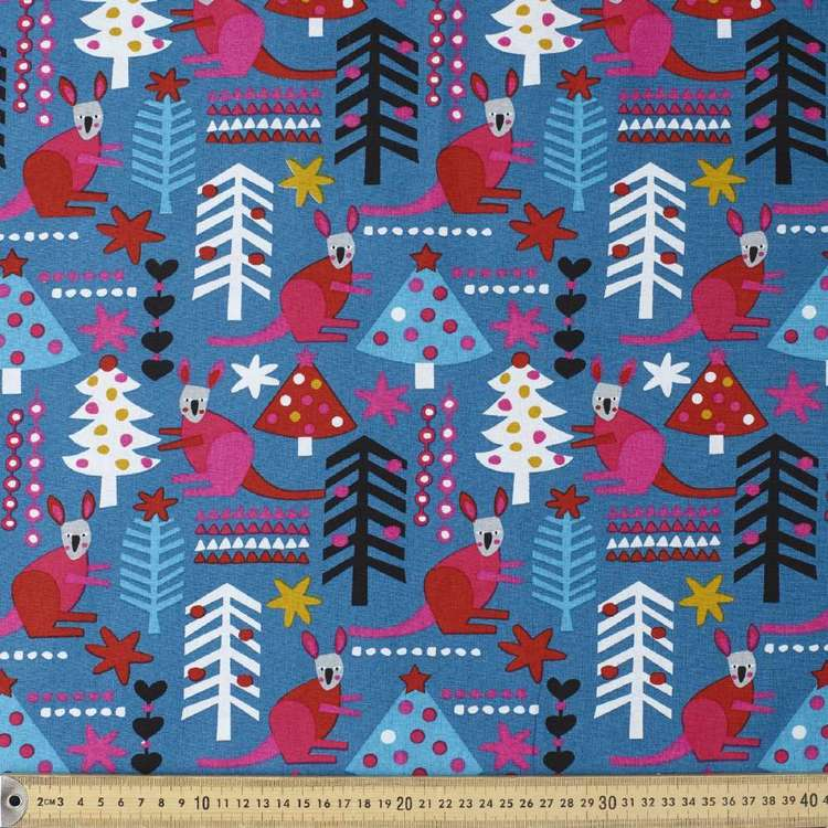 Jocelyn Proust Modern Kangaroo & Trees Cotton Fabric