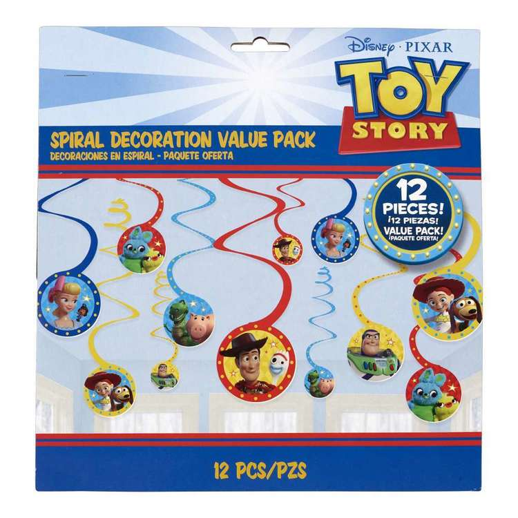 Amscan Toy Story 4 Spiral Decorations Multicoloured