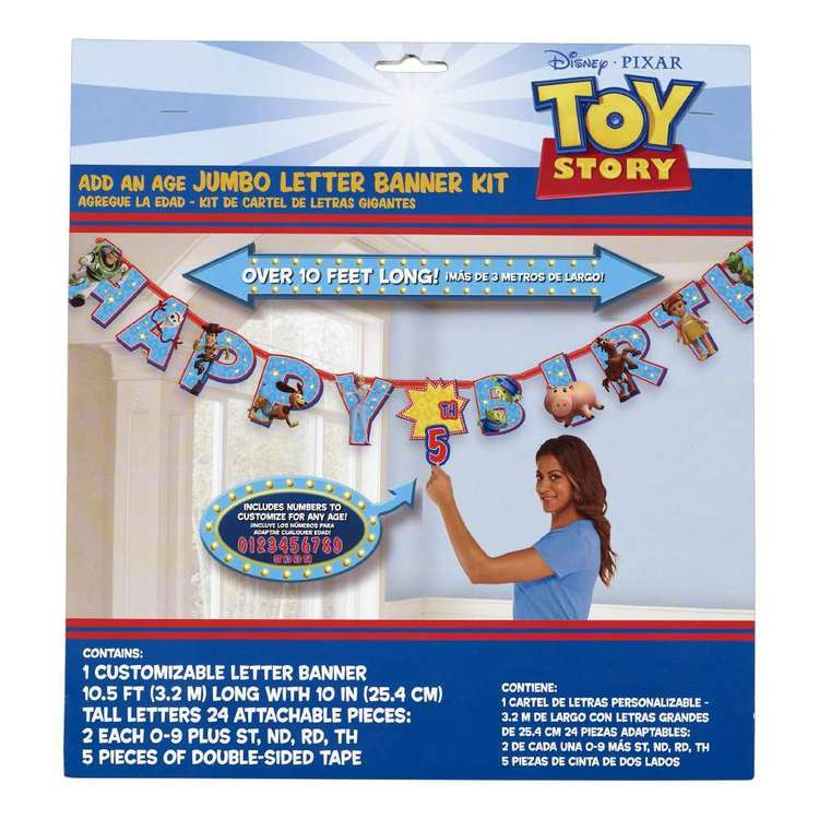Amscan Toy Story 4 Jumbo Add An Age Banner