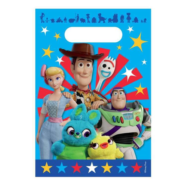 Amscan Toy Story 4 Folded Loot Bags Multicoloured