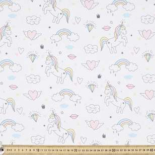 Unicorn Printed Cotton Fabric