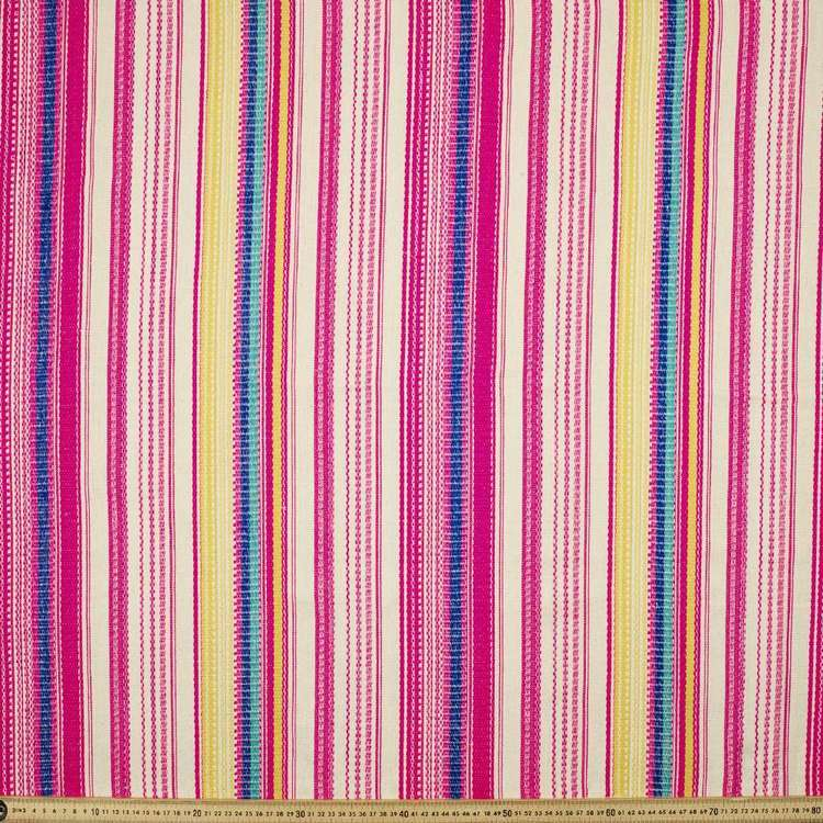 Rainbow Stripe Hasina Pink & Multicoloured 150 cm