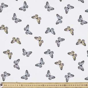 Butterflies Printed Cotton Fabric