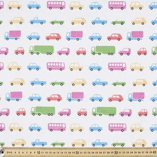 Transport Printed Cotton Fabric