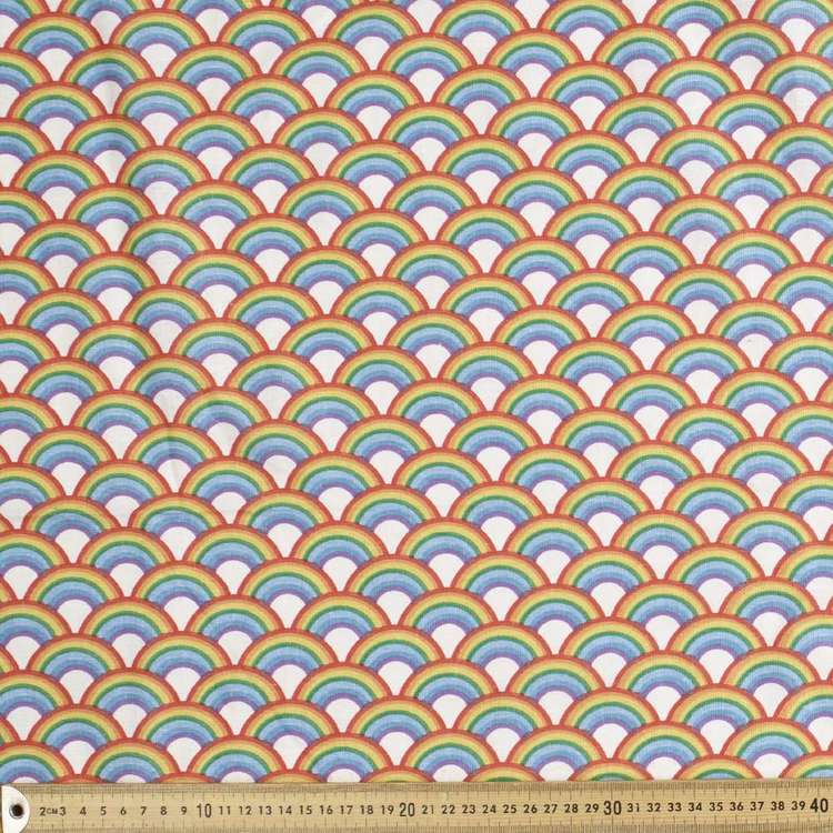 Rainbow Printed Cotton Fabric
