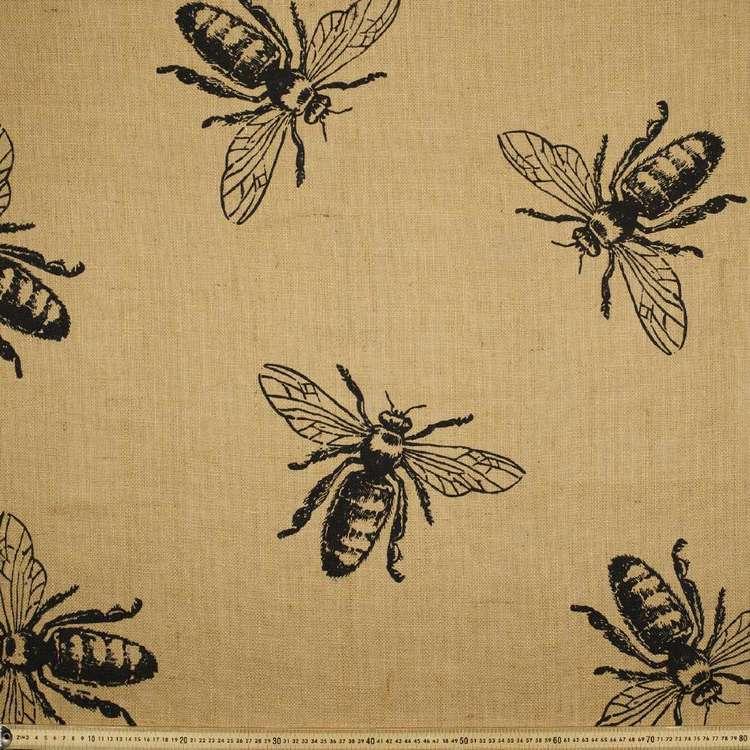 Bee Hessian Fabric