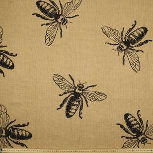 Bee Hessian Fabric