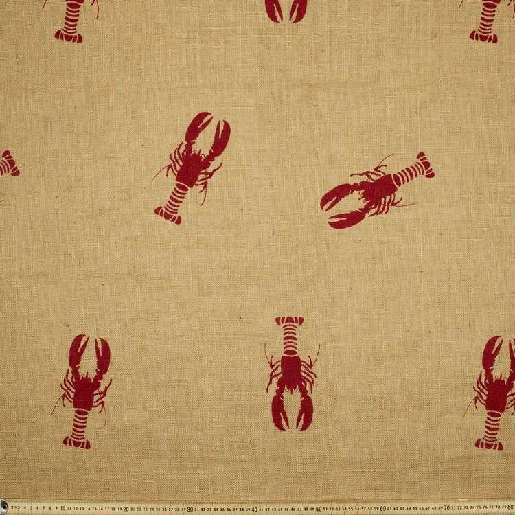 Lobster Hessian Fabric
