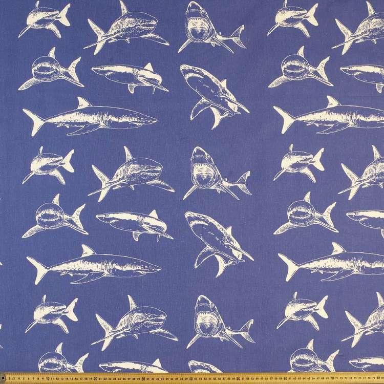 Shark Printed Cotton Fabric