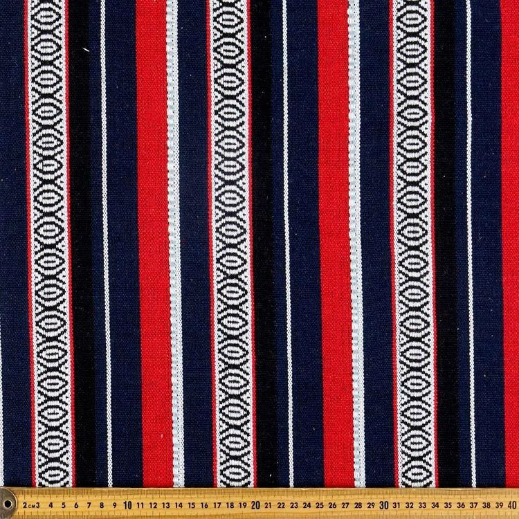 Midnight Stripe Hasina Fabric