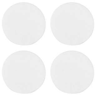 Bouclair Modern Nature Set Of 4 White Coasters