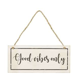 Living Space Good Vibes Only Wall Plaque