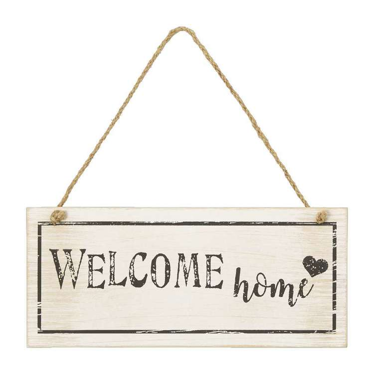 Living Space Welcome Home Wall Plaque